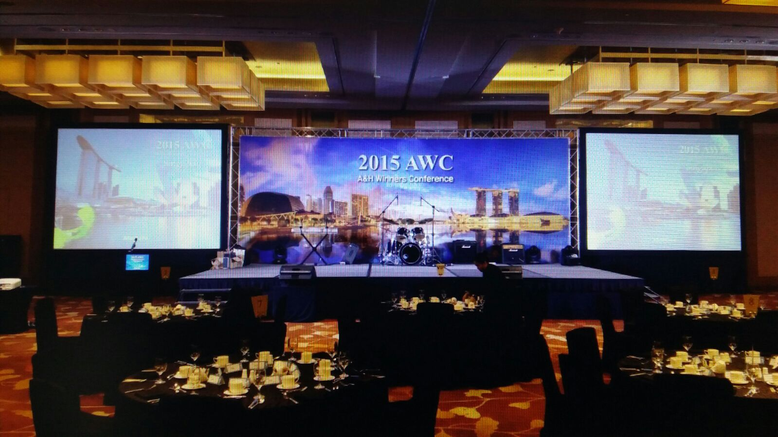 Event Stage Decoration Singapore by Impact Audio Visual Staging